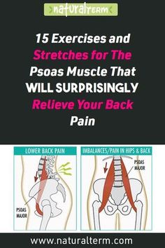 fitness 15 Exercises and Stretches for The Psoas Muscle That Will Surprisingly Relieve Your Back Pain Fitness Logo, Fitness Workouts, Fitness Motivation, Muscle Fitness, Yoga Fitness, Scoliosis Exercises, Back Pain Exercises, Yoga Exercises, Training Exercises