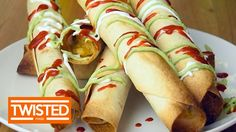 Cheesy Chicken Taquitos | Twisted Food