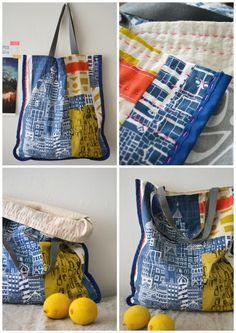 Bag- market tote. Hand printed, handmade with a bit of hand stitching.  http://www.etsy.com/shop/BlueberryAsh