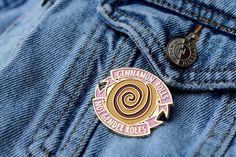 Cinnamon Rolls, Not Gender Roles Feminist Enamel Pin on Denim Jean Jacket Pocket - Zealo Apparel