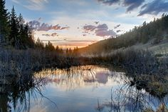 Beaver Pond - which is located close to Ohio Creek Road, which is southwest of Crested Butte Colorado. To get there you have to hike up the mountain through an aspen forest, which gives not clue of what it will look like when you get to the pond. One of those hidden gems!