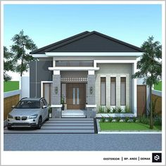 House Floor Design, Simple House Design, Bungalow House Design, Tiny House Design, Modern House Design, House Plans Mansion, Garage House Plans, Minimalis House Design, Modern Bungalow House Plans