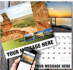 2021 Texas Scenic Wall Calendars low as Imprinted for Business Advertising. Promote your business name, logo and ad message all year! Calendar App Free, Print Calendar, Promotional Calendars, Date Squares, Image Theme, Us Holidays, Themes Free, Free Advertising, Planning Your Day
