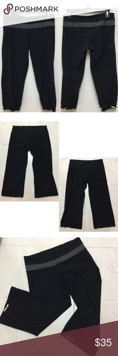 Lululemon Polka Dot Crop Capri Yoga Pants Small 6 No size Tag. Size should be small/6 according to size chart.  See pictures for details, condition, and measurements.   ❌No Trade ❌Lowball Offer Will be IGNORED&BLOCKED.  ⚡️Serious Buyer ONLY⚡️NO DRAMA! ⭐️Same/next day shipping via USPS ⚠I video record all sales from packing to shipping so we are both protected ⚠ lululemon athletica Pants