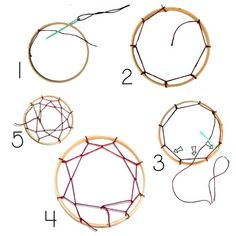 Dream catcher webbing