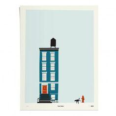 Poster New York 30x40 cm limitierte Auflage Blau  Pleased to meet