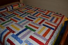Rail Fence Quilt by RobbienaeQuilts on Etsy, $325.00