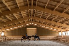 Timber-framed equestrian centre completed by Castanheira & Bastai in Portugal