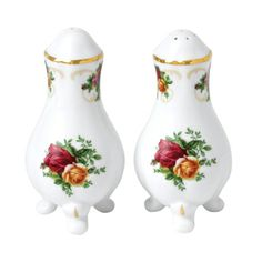 "Royal Albert - Old Country Roses Salt & Pepper Set 4"""