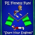 """WThis dual series packet includes both the """"PE Games that Rock"""" series and the """"Out of this World PE Games"""" series. Together, there are 20 cutting edge, unique and detailed large group physical education games."""