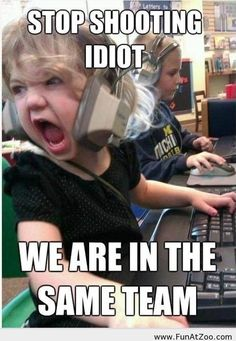 Funny gamer little girl picture - Funny Picture