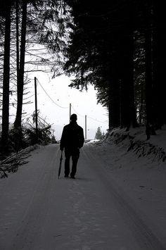 Wanderer, snow