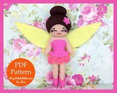 Garden Fairy Rosetta. Fairy. Felt Doll. Felt pattern. PDF Pattern. Sewing pattern. Felt Crafts.