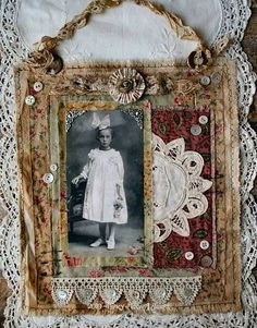 fabric collage by nancy maxwell james