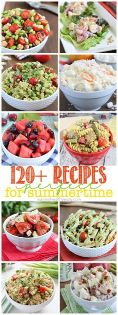 Get ready for those summer BBQ's and get togethers with this list of more than 120 recipes for summer! Get ready for those summer BBQ's and get togethers with this list of more than 120 recipes for summer! Summer Dishes, Summer Salads, Yummy Food, Delicious Recipes, Healthy Recipes, Healthy Dishes, Summer Bbq, Food For Summer, Summer Meal Ideas