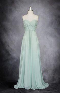 Wrapped Bodice Sweetheart Neckline Chiffon Dress