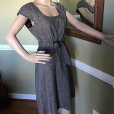 Dress for success Great condition zipper back belted at waist just above the knee great with boots or dress shoes Ann Taylor Dresses Midi