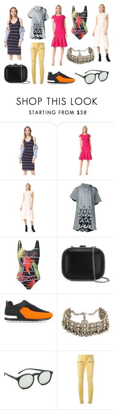 """Untitled #1574"" by donna-wang1 ❤ liked on Polyvore featuring Stateside, Notte by Marchesa, Belstaff, Sacai, ONIA, STELLA McCARTNEY, Balmain, Child Of Wild and Le Specs"
