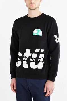 Stussy Rising Earth Crew Neck Sweatshirt