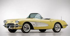 Retro car - 1958 Chevrolet Corvette Convertible Roadster