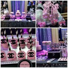 Chanel themed Sweet 16 Party Table!