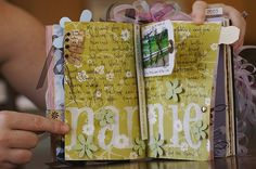 dedra's altered book 8 by Noell, via Flickr
