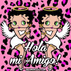 Betty Boop Cartoon, Girl Cartoon, Cartoon Art, Cartoon Characters, Hello Betty, Hello In Spanish, Betty Boop Pictures, Facebook Timeline Covers, Faith In Love