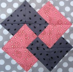 Free Quilt Block Patterns | Starwood Quilter: Card Trick Quilt Block by lisa.bierman.9