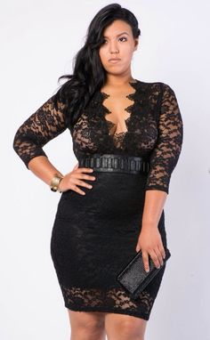 Sexy Black Mesh Plus Size Dress | Summer dresses