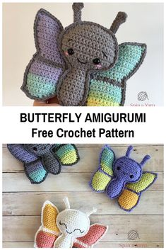 Butterfly Amigurumi With Beautiful Gradient On The Wings [Free Pattern]