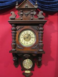 Antique Wall Clock Regulator Freischwinger 1880 Pfeilkreutz-Junghans
