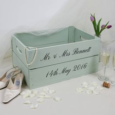 Are you interested in our wedding personalised wooden gift? With our crate box storage wedding you need look no further.