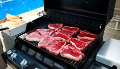 Grill it with the other steaks, like no big deal, it's there for the party.