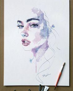 Watercolorist: @robertdean.art more #Regram via @watercolor.illustrations #watercolorarts