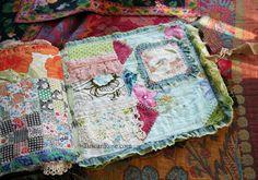 Fabric journal tuscan rose b