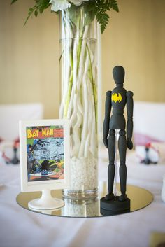 Superhero Wedding Photography - Reception - Batman - Centerpiece