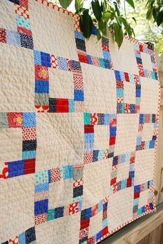 love this. maybe something similar for kids' quilts? I'm all about colorful squares on white lately.