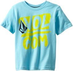 Volcom Boys 2-7 Linked Up Stone Short Sleeve Tee Youth, Blue Drift, 4T