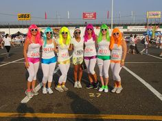 Erica we need to do this for the next color run, this way I don't have to worry about having pink hair for a month! :)