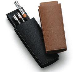 Graf von Faber Castell grained leather pen pouch