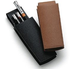 Graf von Faber Castell grained leather pen pouch