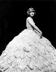 Extremely unusual crinoline for the 1920s, when the look was straight up and down.