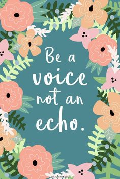 Be the voice...BE TH