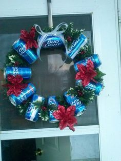 beer can christmas wreath - Google Search