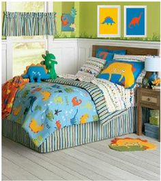 Dinosaur Bedroom Set Art work Print Boy's room by HopefulPrinting