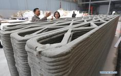 ProgressTH April 2014 Chinese company WinSun Decoration Design Engineering has made headlines by constructing 10 houses in one day . 3d Printing Diy, 3d Printing Materials, 3d Printing Service, 3d Printing Industry, 3d Printing Technology, In China, Lifehacks, Shanghai, 3d Printed House