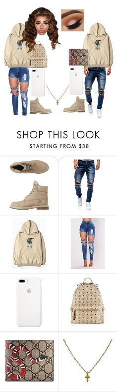 """Untitled #178"" by melaninprxcess ❤ liked on Polyvore featuring Timberland, WithChic, ETUÍ, MCM and Gucci"