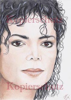 Michael Jackson - Michael 3 3 3... - original Zeichnung, Drawing, Bild
