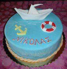 Summer cake birthday boy