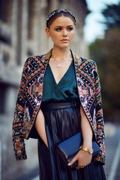 Beaded and embroidered jacket